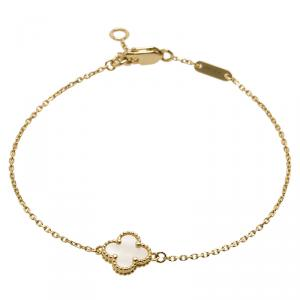 Van Cleef & Arpels Sweet Alhambra Mother of Pearl Rose Gold Bracelet