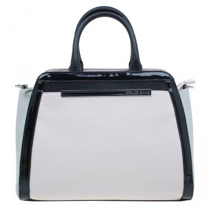 Versace Jeans Bi Color Pebbled Leather Tote