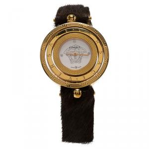 Versace Mother of Pearl Stainless Steel Eon Women's Wristwatch 39MM