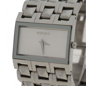 Versace White Stainless Steel 75Q Women's Wristwatch 32MM