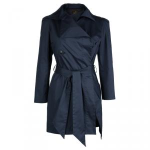 Vivienne Westwood Anglomania  Navy Blue Cotton Belted Trench Coat S