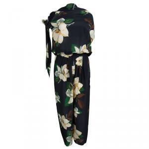 Vivienne Westwood Anglomania Black Floral Printed  Jumpsuit M