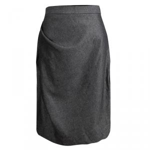 Vivienne Westwood Anglomania Grey Textured Draped Skirt L