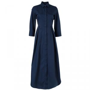 Weekend Max Mara Navy Blue Maxi Shirt Dress S