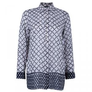 Weekend Max Mara Geometric Print Silk Shirt S