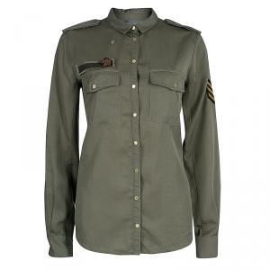 Zadig Military Green Button Down Shirt S