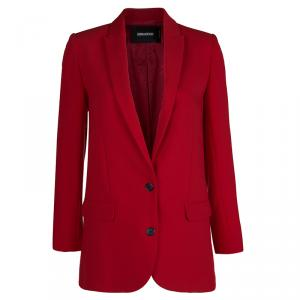 Zadig & Voltaire Red Studded Back Detail Deluxe Blazer S