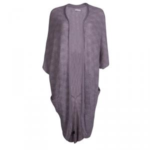 Zadig and Voltaire Purple Cashmere Draped Cardigan M