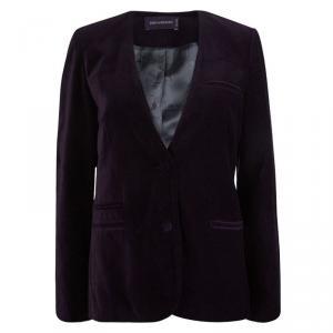 Zadig and Voltaire Purple Velvet Embroidered Blazer M
