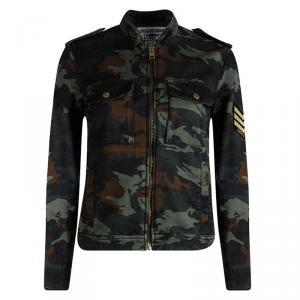 Zadig and Voltaire Kavy Camouflage Zip Front Jacket XS