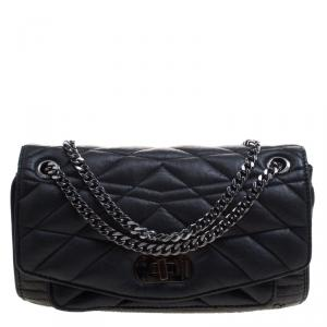 Zadig and Voltaire Black Leather Skinny Love Shoulder Bag