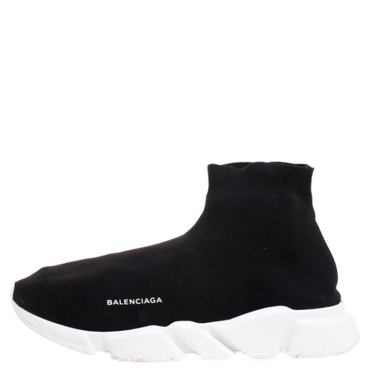 Balenciaga Black Knit Fabric Speed