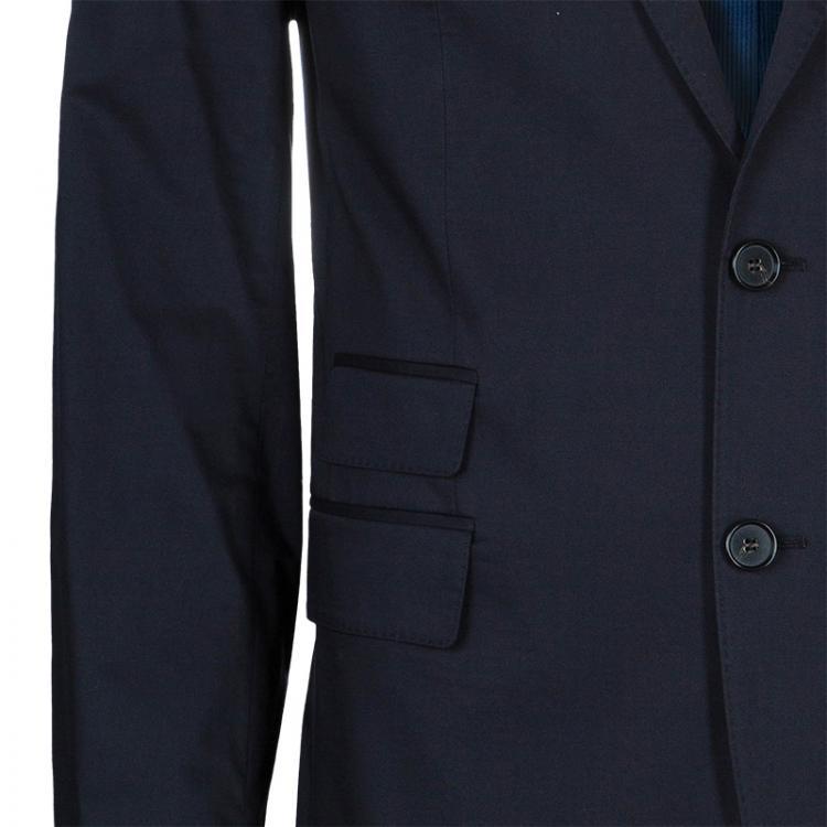 Boss By Hugo Boss Men's Black Cotton Blazer L