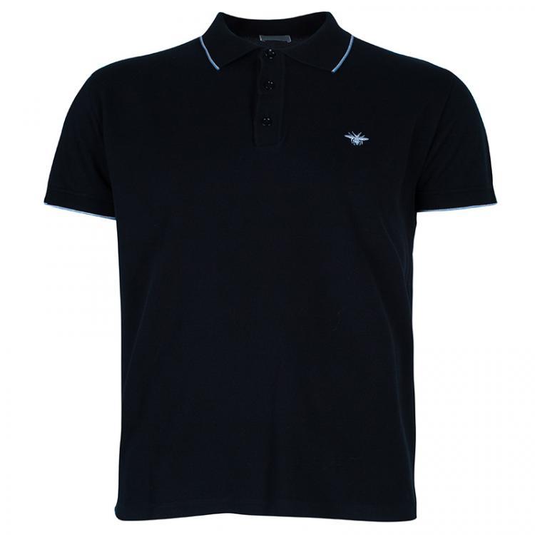 Dior Men's Black Polo Shirt XXL Dior | TLC