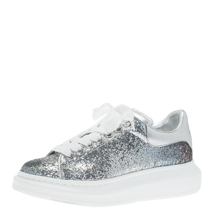 Alexander McQueen Silver Glitter