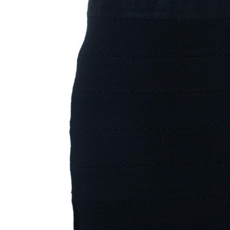 Diane Von Furstenberg Black Stitches Bandage Dress M