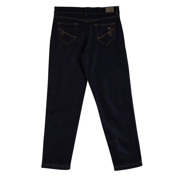 Emporio Armani Indigo Dark Wash Denim Kristen Jeans M