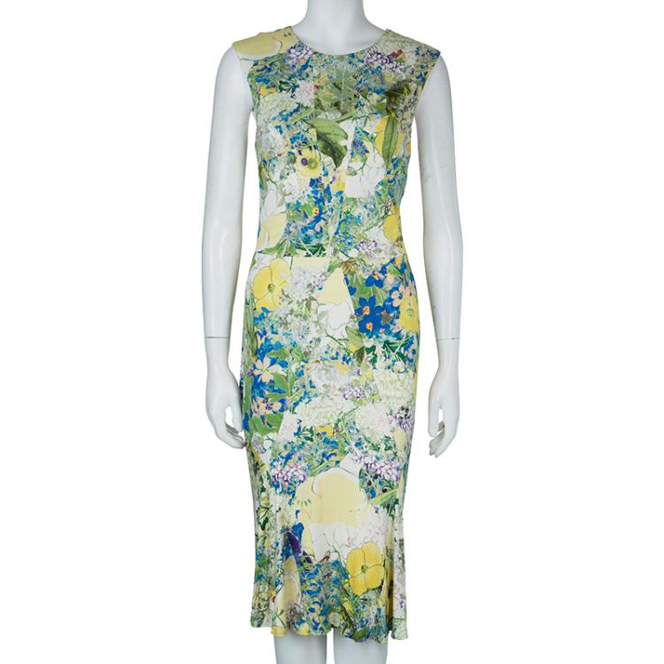 Erdem Multicolor Print Sleeveless Knit Dress L