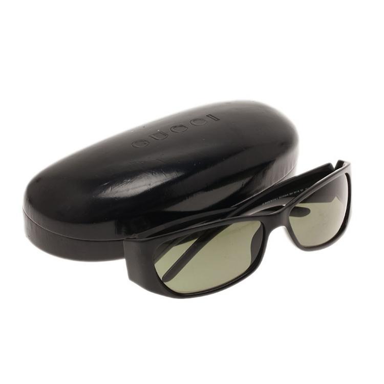 Gucci Black GG Logo Rectangle Frame Sunglasses