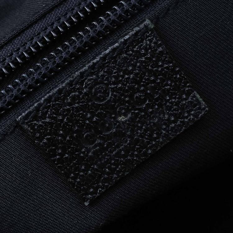 Gucci Beige/Blue GG Canvas Small Vintage Web Tote