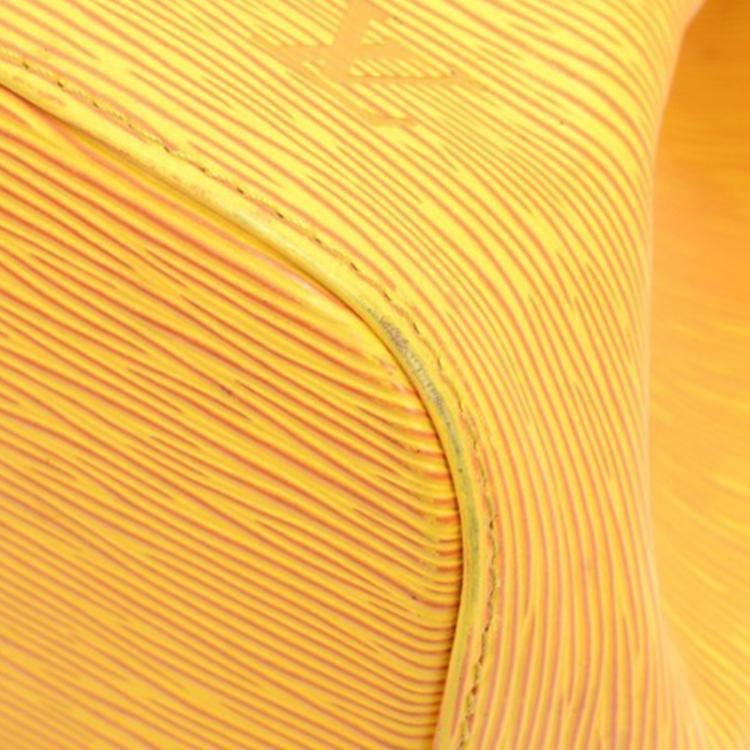 Louis Vuitton Tassil Yellow Epi Leather Petit Noe Bag