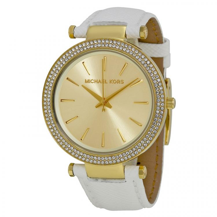 Michael Kors Champagne Gold-Plated Stainless Steel Darci MK2391 Women's Wristwatch 39MM