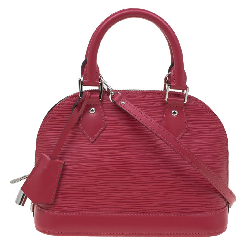 44626e0ef273 Louis Vuitton Hot Pink Epi Leather Alma Bb Bag 86959 At Best