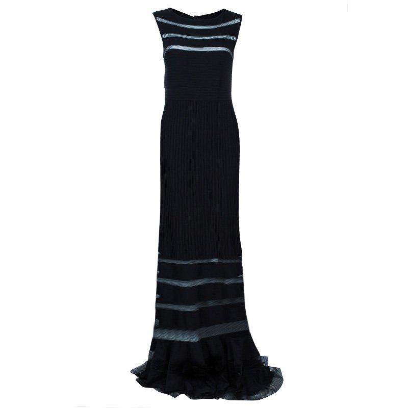 Tadashi Shoji Black Panel Gown L - Buy & Sell - LC