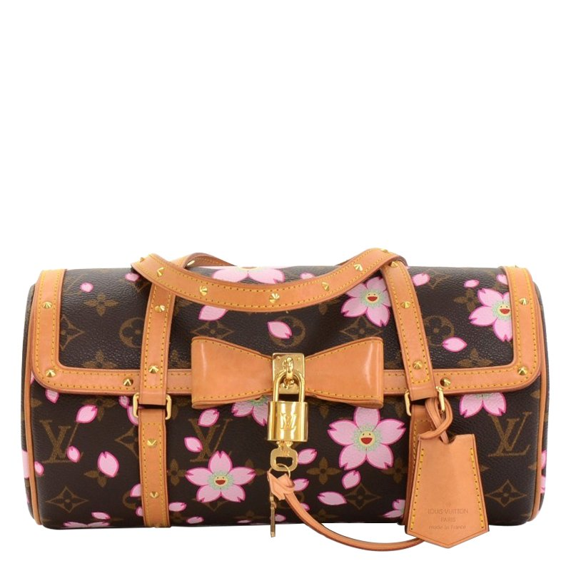 Louis Vuitton Monogram Canvas Cherry Blossom Papillon Bowling Bag Nextprev Prevnext
