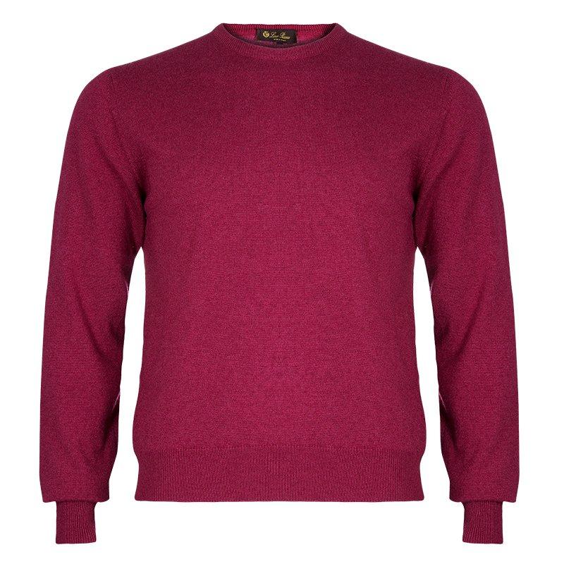 Loro Piana Mens Rasperry Red Cashmere Sweater M