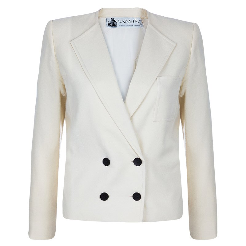 Buy Lanvin Off-white Wool Short Jacket M 52590 at best price  0bd43a0b6468