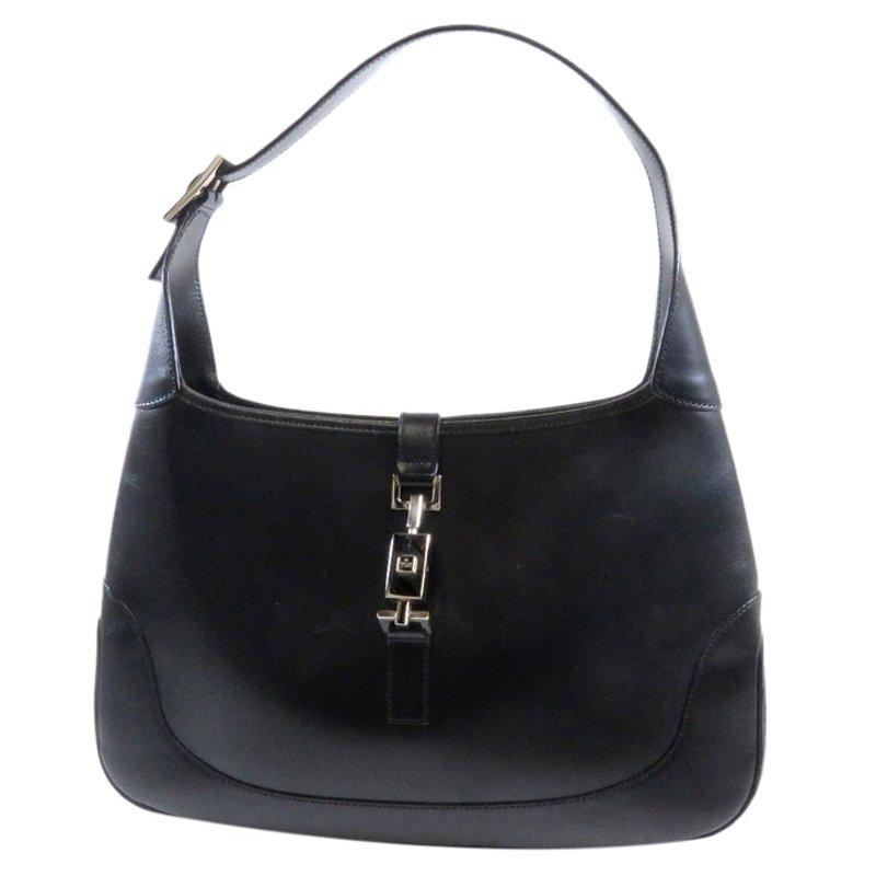 7fdb8551eddf Buy Gucci Black Leather Jackie O Shoulder Bag 55847 at best price | TLC
