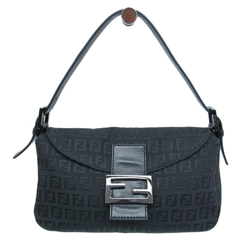 e0ccf2a5a99 ... top quality fendi black zucchino canvas mini mama shoulder bag buy sell  lc aa215 65957