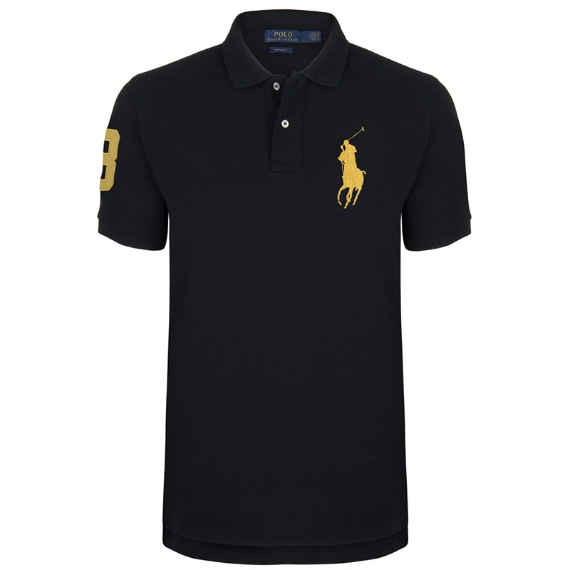 ... Polo Ralph Lauren Black/Yellow Logo Polo Shirt S. nextprev. prevnext