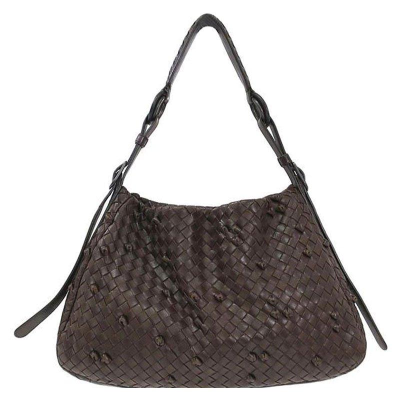 ... discount shop 83ae1 13a11 Bottega Veneta Dark Brown Intrecciato Leather  Shoulder Bag. nextprev. prevnext ... 4a8dfbdf73a06