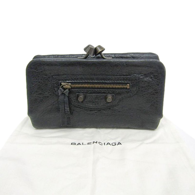 Balenciaga Black Leather Giant 21 Clutch