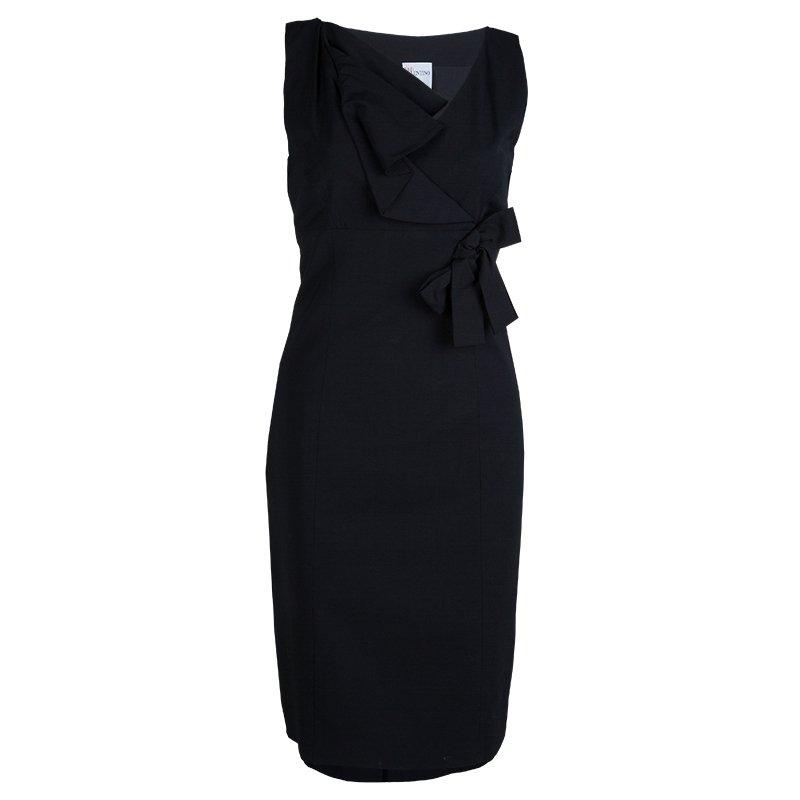 Buy Red Valentino Black Bow Detail Sleeveless Dress M 61913 At Best