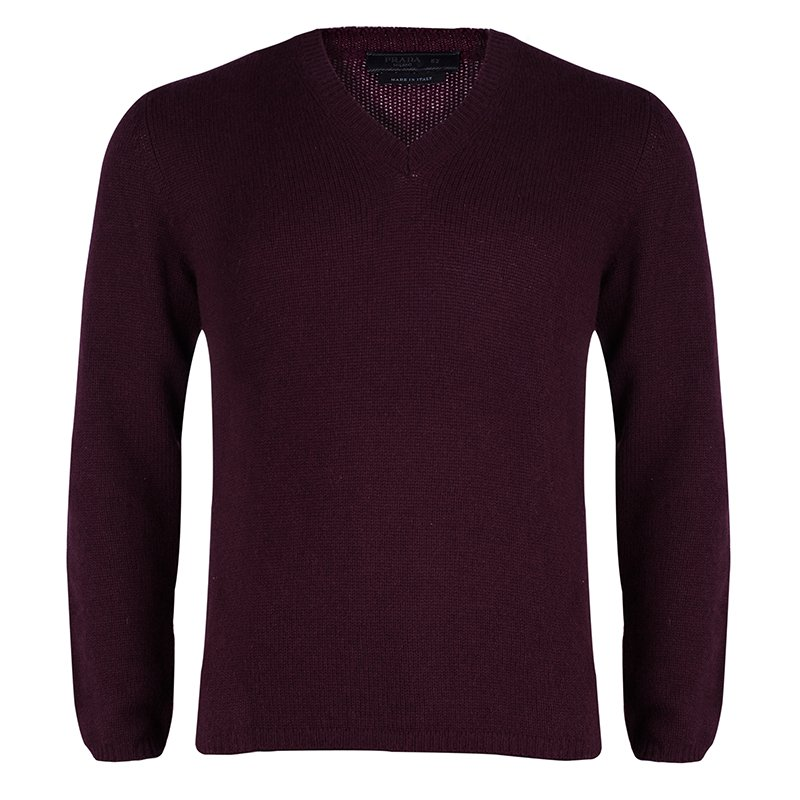 Burgundy cashmere sweater Prada
