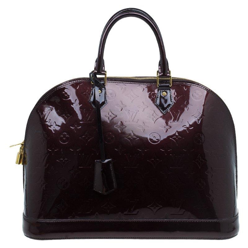 Louis Vuitton Alma Handbag Monogram Vernis Gm TLD8D