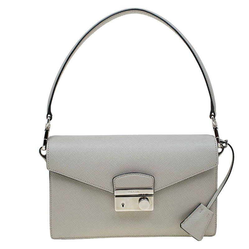 131c16e5c8a13b ... italy prada grey saffiano lux leather mini sound flap bag buy sell lc  2bb2c ca365 ...