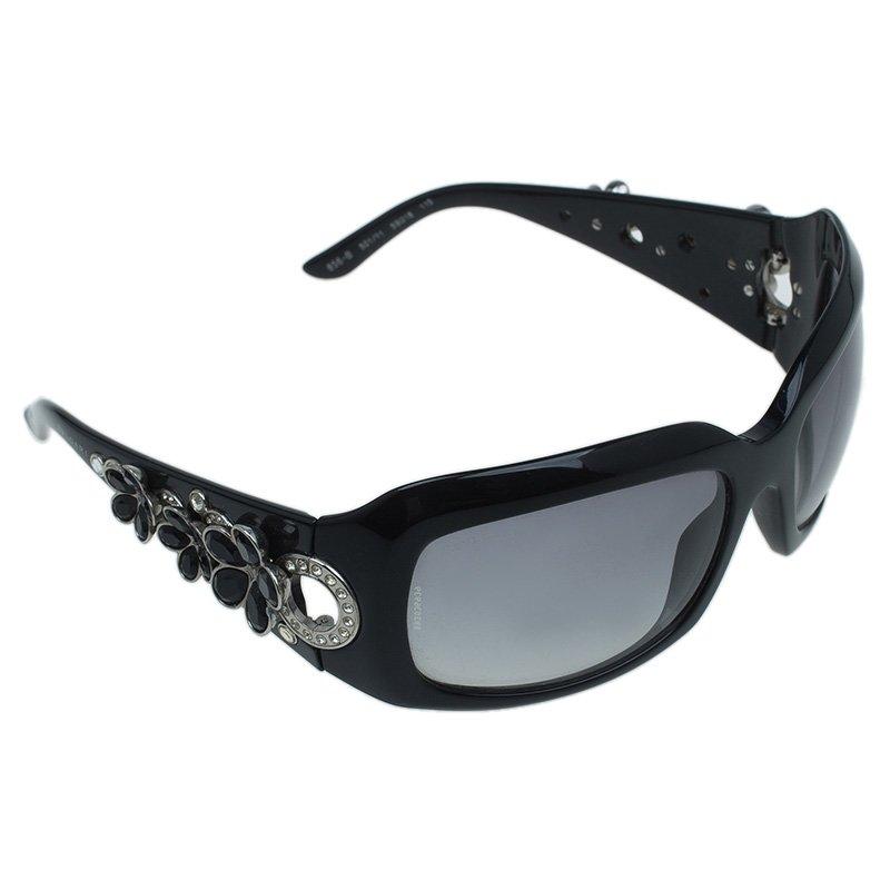 Bvlgari Black Swarovski Crystal Flower Embellished 856B Sunglasses ...