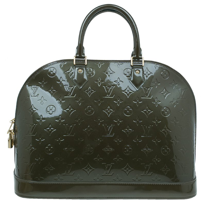 Louis Vuitton Gris Art Deco Monogram Vernis Alma GM Bag