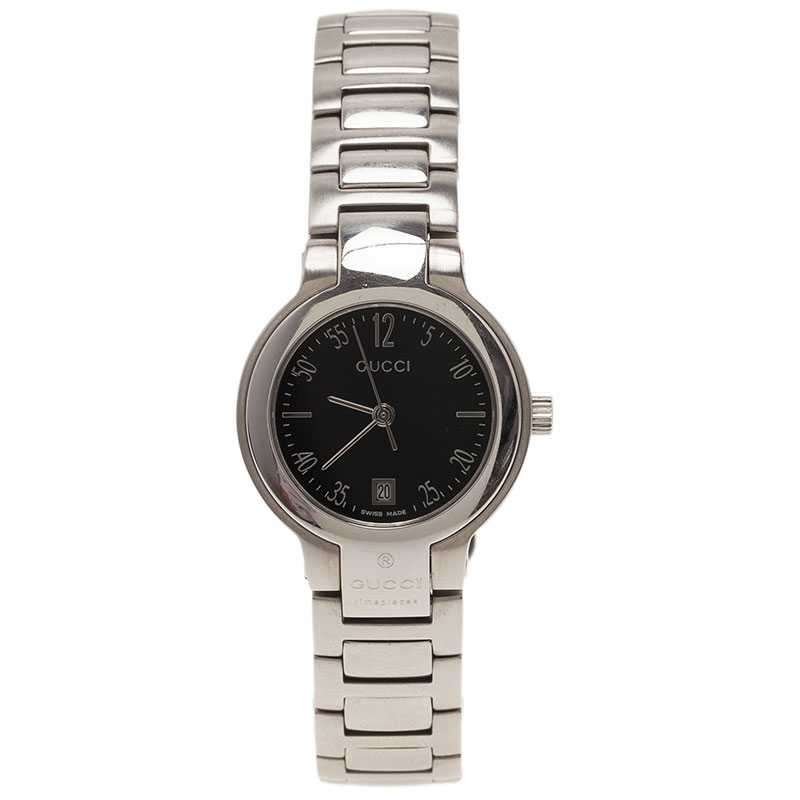 Gucci Black Stainless Steel 8900L Women's Wristwatch 26MM