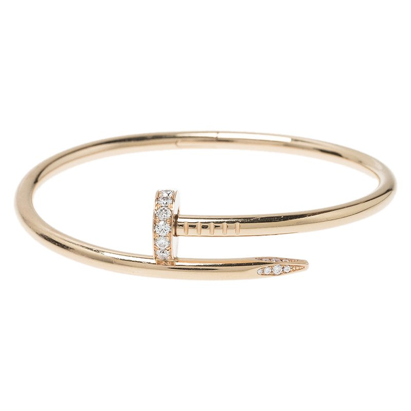 Cartier Juste Un Clou Diamond Rose Gold Bracelet Size 16 Nextprev Prevnext
