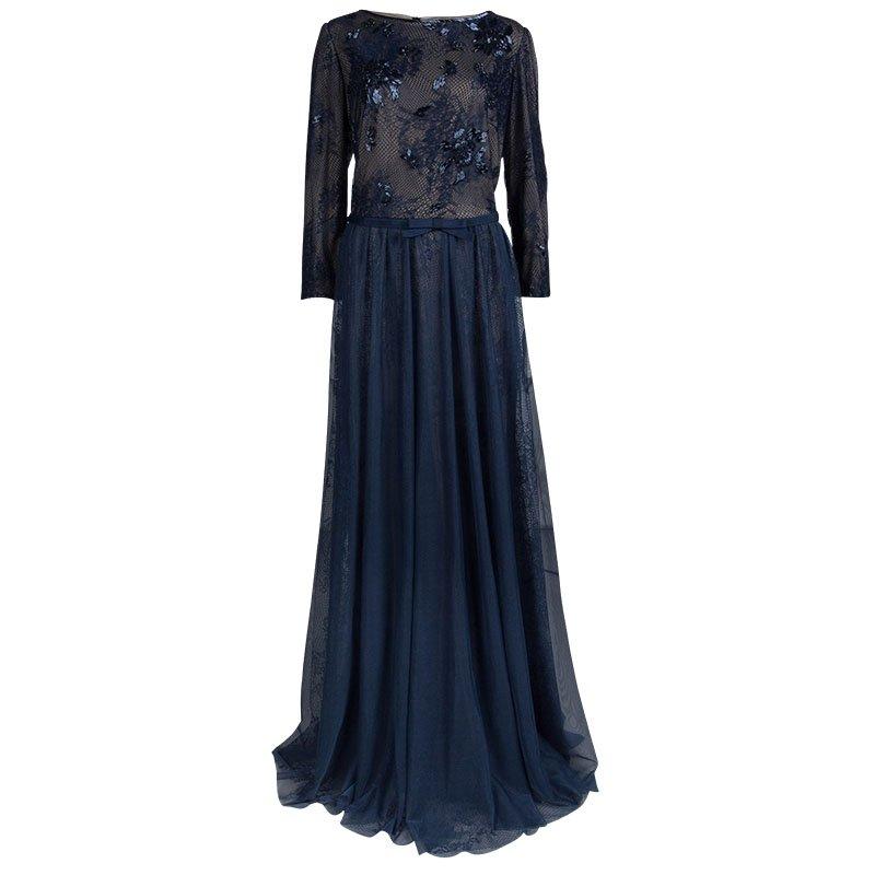 Tadashi Shoji Navy Blue Lace Embellished Dress XXL - Buy & Sell - LC