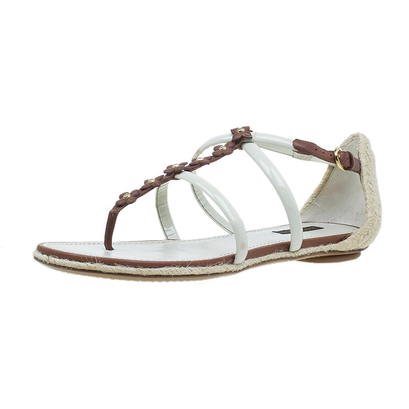 af23fa3b6 ... Brown and White Leather Bagatelles Sandals Size 39. nextprev. prevnext