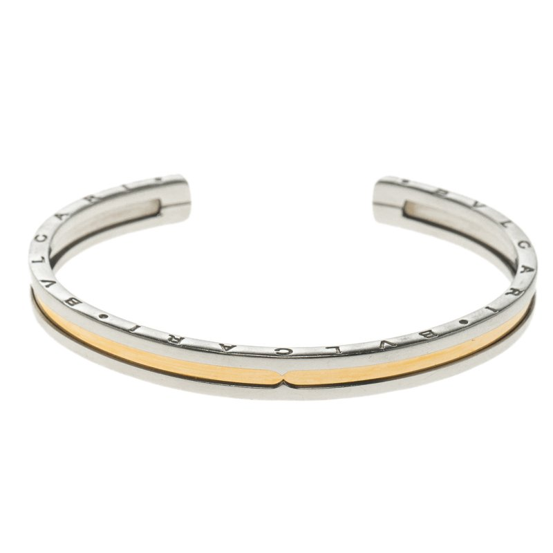 0984dded579 ... italy bvlgari b.zero1 18k rose gold steel open cuff bracelet 15cm.  nextprev.