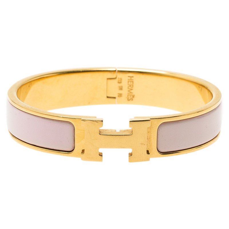 43d59b7325fc ... promo code for hermes clic clac h pink enamel gold plated bracelet buy  sell lc e8b80