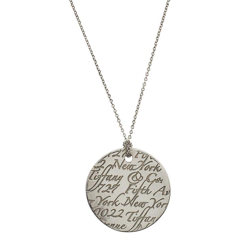 Tiffany co tiffany notes round silver pendant necklace buy tiffany notes round silver pendant necklace nextprev prevnext aloadofball Gallery
