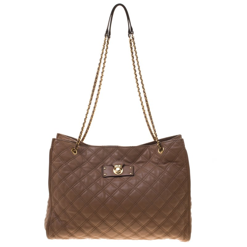 Beige Quilted Leather Juliette Chain Handle Tote Nextprev Prevnext